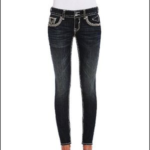 Vigoss Black New York Embellished Skinny Jeans